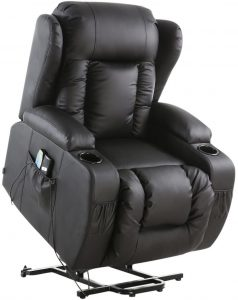 More4Homes Caesar Electric Rise Recliner Massage Heat Armchair