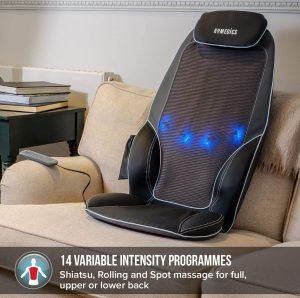 different intensities on massage pad chairs